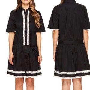 KATE SPADE Broome Street Mini Dress Lace B & W
